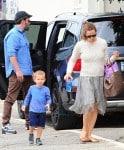 ben Affleck and Jennifer Garner at the market with son Sam