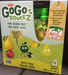 GoGo squeeZ® brand Apple Grape and Apple Pear Pouch Products Recalled Due To Mold