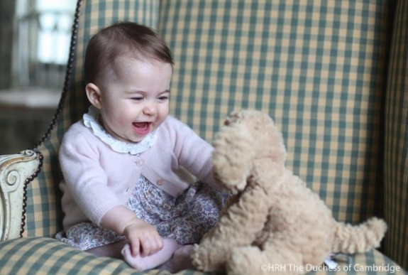 6 month old Princess Charlotte photographed at Anmer Hall, the family home in Norfolk