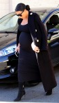 A very pregnant Kim Kardashian out  shopping in Beverly Hills