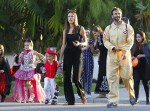 Alessandra Ambrosio and Jamie Mazur out for Halloween 2015 with kids Anja and Noah