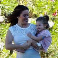 Alyssa Milano Steps Out With Her Giggly Girl