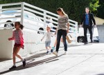 Ben Affleck and Jennifer Garner are seen leaving Cake Mix with their children Seraphina, and Samuel