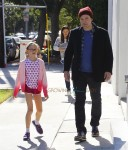 Ben Affleck seen leaving Cake Mix with daughter Violet