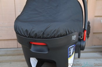 Britax B-Safe 35 Infant Seat - camopy from the back