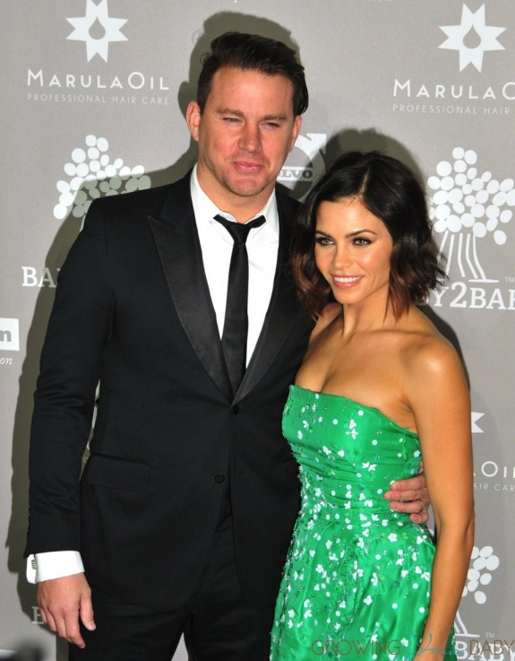 Channing Tatum and wife Jenna at the 2015 Baby2Baby Gala
