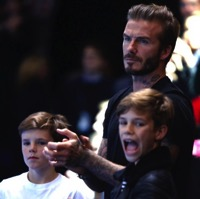 David Beckham & His Boys Watch The ATP World Tennis Finals