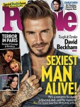 David Beckham Is Named People's 'Sexiest Man Alive 2015