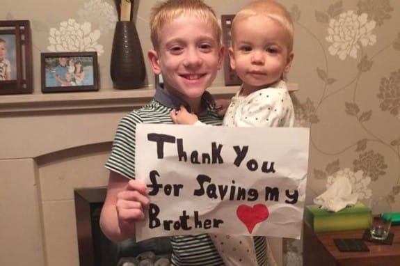 Freddie Branthwaite with brother Harry