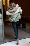 Gisele arrives at her NYC hotel with daughter Vivian Brady