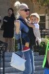 Gwen Stefani With Son Apollo leaving church on November 8th 2015