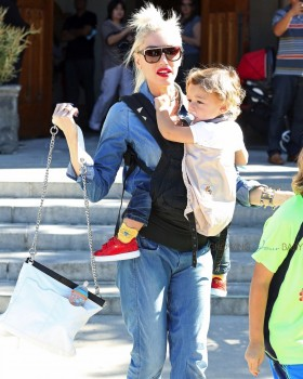 Gwen Stefani With Son Apollo leaving church on November 8th 2015