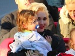 Gwen Stefani with son Apollo at Disneyland
