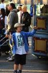 Gwen Stefani with son Zuma at Disneyland