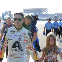 Jeff Gordon Walks The Track With Daughter Ella