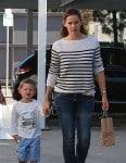 Jennifer Garner seen leaving Cake Mix with her son Samuel