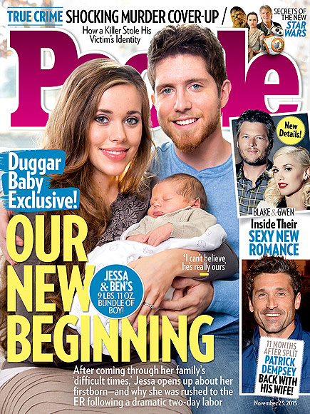 Jessa and Ben Seewald cover People Magazine with their son Spurgeon