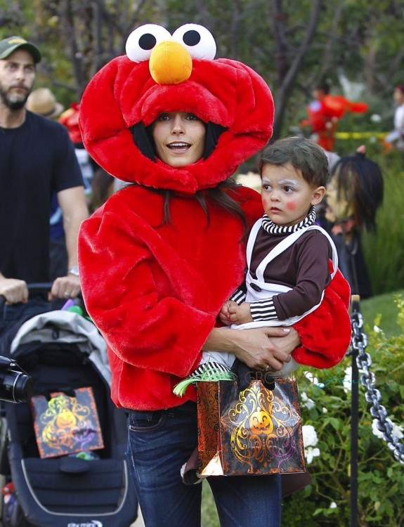Jordana Brewster out for Halloween with son Julian Form
