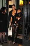 Kim kardashian and North West heading to Givenchy Fashion show dressed alike