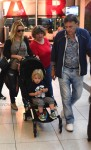 Luisana Lopilato at the Buenos  Aires airport with son Noah Buble