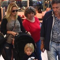 Luisana Lopilato & Son Noah Head Home To Canada