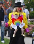 Molly Sims out with her daughter Scarlett for Halloween 2015