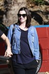 Newly pregnant Anne Hathaway steps out in Las Angeles
