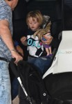 Noah Buble at the Buenos Aires airport with mom Luisana Lopilato