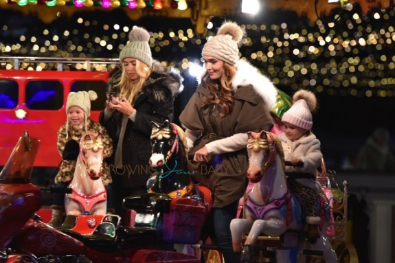 Petra and Tamara Ecclestone at WInter Wonderland with daughters Lavina and Sophia