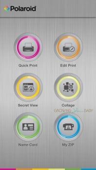 Polaroid Zip instant mobile printer - print options