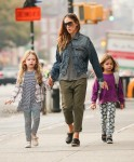 Sarah Jessica Parker does the school run with Marion and Tabitha Broderick