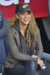 Shakira at the La Liga match between FC Barcelona and Real Sociedad de Futbol