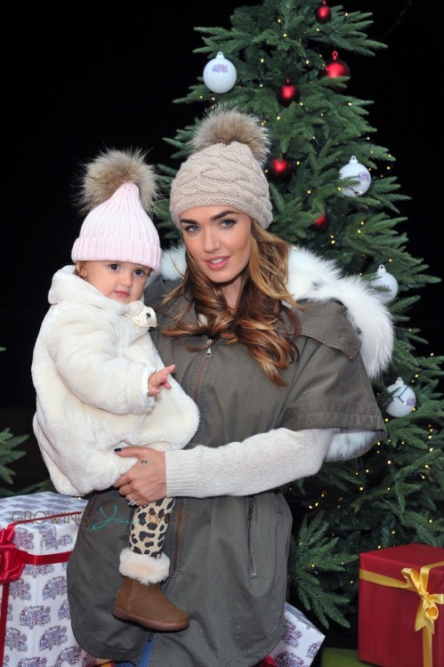 Tamara Eccleston at Winter Wonderland with daughter Sophia Rutland
