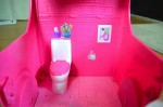 barbie pop up camper - bathroom