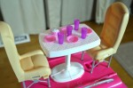 barbie pop up camper - dining area