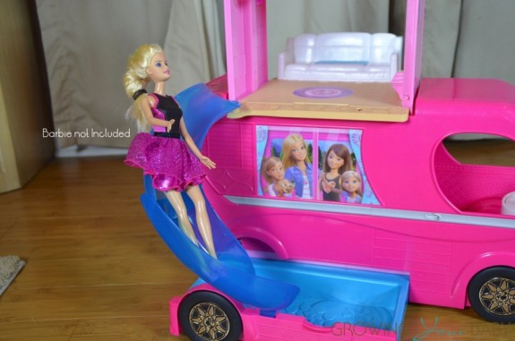 barbie pop up camper - pool