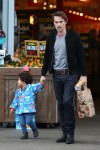 Actor Olivier Martinez Shops With Son Maceo in LA