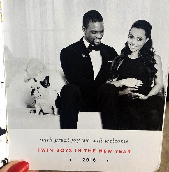 Adrienne and Chris Bosh Expecting Twin Boys