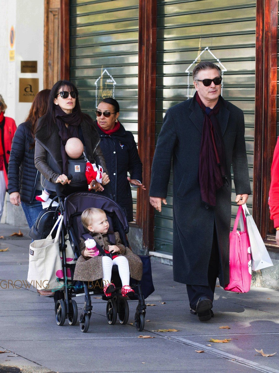 Alec Baldwin And His Wife Hilaria Thomas Seen Out Shopping