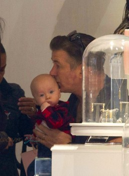 Alec Baldwin out shopping with son Raphael in Madrid ...
