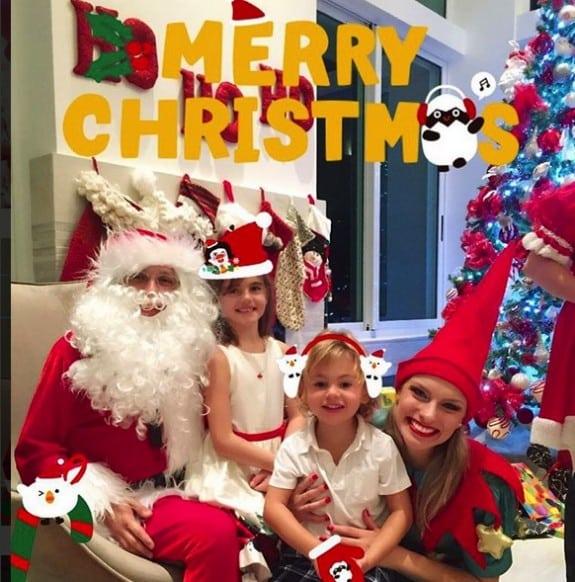 Alessandra Ambrosio's kids Noah and Anja Mazur Christmas 2015