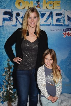 Alison Sweeney and her daughter Megan Hope Sanov at the premiere of Disney On Ice's 'Frozen' at Staples Center LA