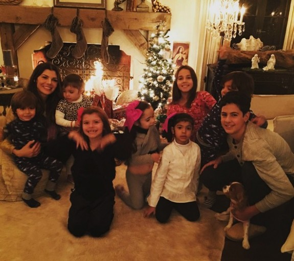 Aly Landry with kids Estela, Marcello and Vanentin