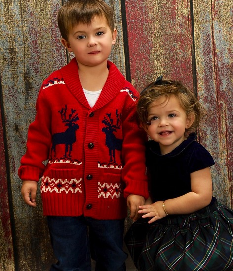 Alyssa Milano's kids Milo and Elizabella Bugliari Christmas 2015