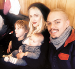 Ashlee Simpson and Evan Ross with kids Jagger and Bronx Wentz