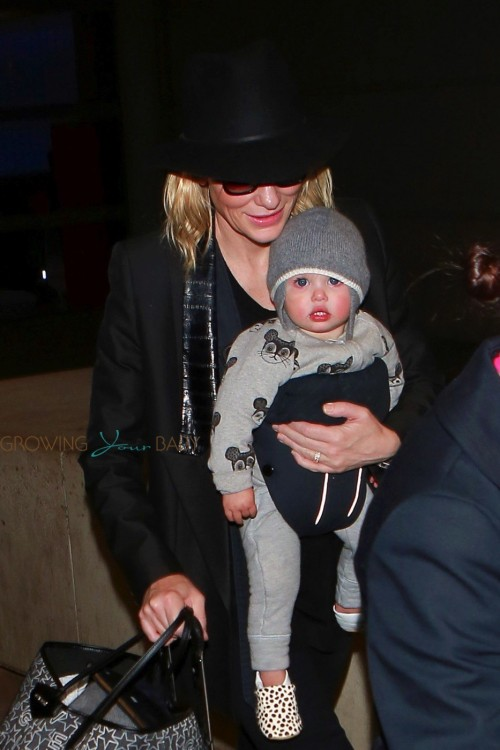 Cate Blachett spotted arriving to LAX with daughter Edith Vivian