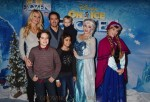 Catriona McGinn, Michael Gosselaar, Mark-Paul Gosselaar, Dekker at the premiere of Disney On Ice's 'Frozen' at Staples Center LA