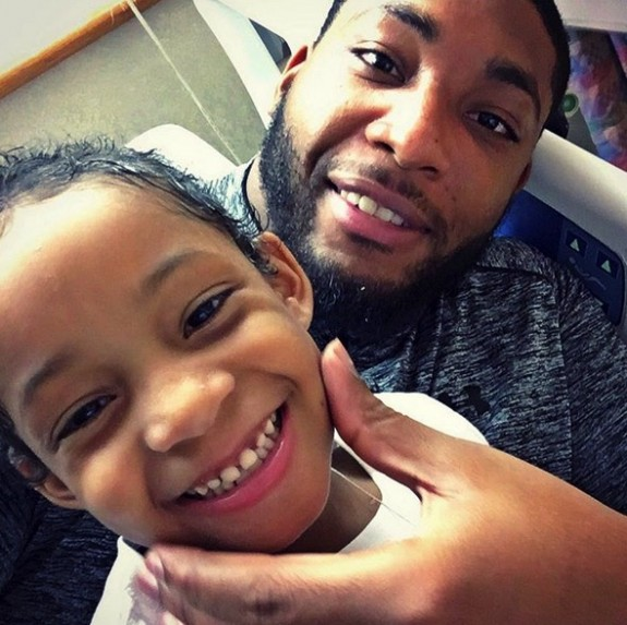 Devon Still With daughter Leah