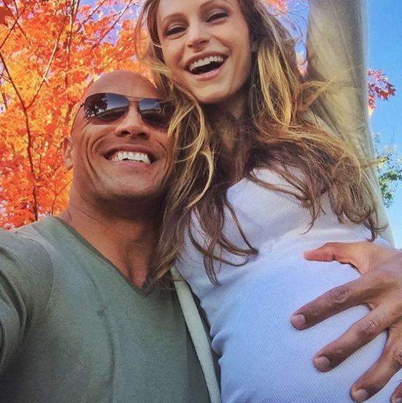"Dwayne ""The Rock"" Johnson and girlfriend Lauren Hashian"