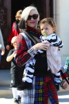 Gwen Stefani leaves church in LA with son Apollo